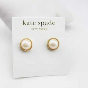 Kate Spade Golden Pearl Stud Earrings